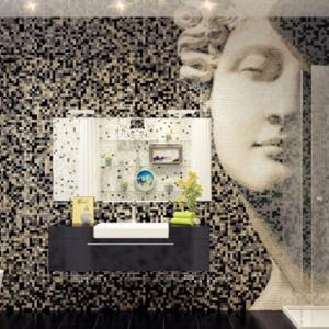 تصویر - کاشی کاری های جالب در حمام - معماری