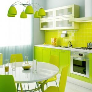عکس - 16 ایده جهت طراحی آشپزخانه ای به رنگ سبز