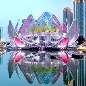 عکس - ساختمان نیلوفرهای آبی چین (The Lotus Building)