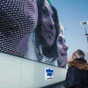 عکس - غرفه نمایشگاهی MegaFon , اثر معمار بریتانیایی  Asif Khan , المپیک زمستانی Sochi