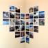 عکس - ایده هایی برای کلاژ عکس بر روی دیوار