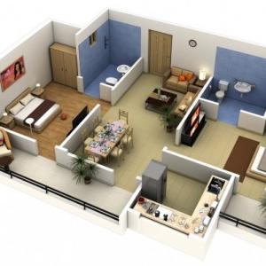 عکس - نمونه هایی از آپارتمان های دو خوابه