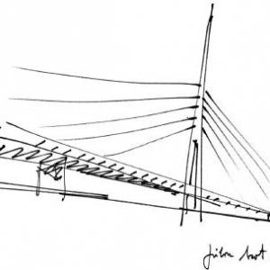 تصویر - پل کابلی عظیم Ada , اثر تیم طراحی معماری Arhitektura d.o.o , صربستان - معماری