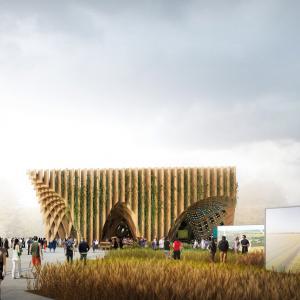 تصویر - پاویون فرانسه در اکسپو میلان 2015 - جنگل وارونه - معماری