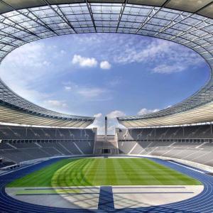 عکس - ورزشگاه المپیااشتادیون برلین، محل برگزاری فینال لیگ قهرمانان اروپا