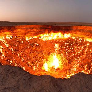عکس - دروازه جهنم در ترکمنستان