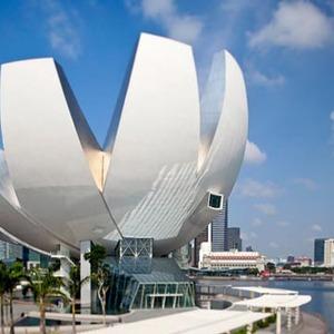 عکس - اولین موزه هنر و علم جهان در سنگاپور
