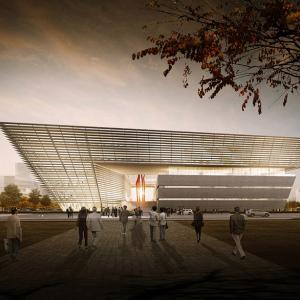 عکس - دومین کتابخانه شهر سوژو ، چین ،اثر تیم معماری gmp