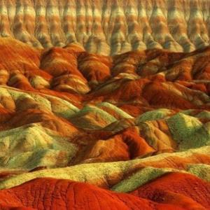 عکس - نقاشی خدا بر دل کوه،آلاداغ لار