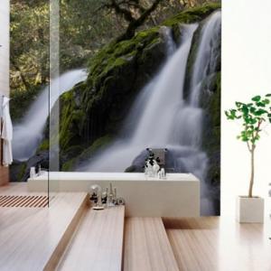 عکس - زیباترین کاغذدیواری های حمام که تاکنون دیده اید.
