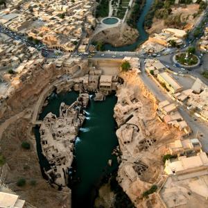 عکس - سازه های آبی شوشتر،شاهکار مهندسی ساسانیان