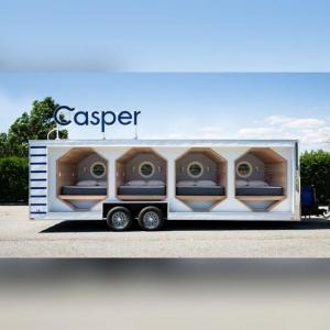 عکس - نمایشگاه متحرک فروش تشک های Casper