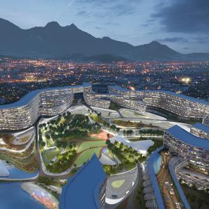 عکس - پروژه عظیم مسکونی Esfera City Center ، اثر زاها حدید