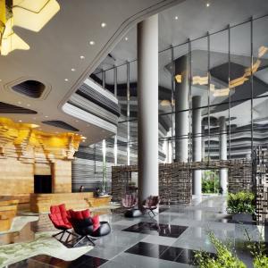 تصویر - Parkroyal on Pickering ،هتلی خاص در سنگاپور - معماری