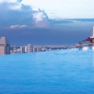 تصویر - بلندترین پارک آسماني و بزرگترین استخر بیکران جهان - معماری