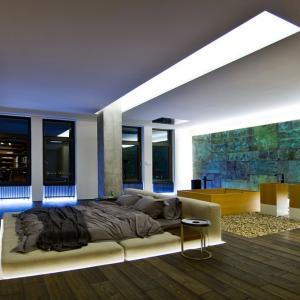 عکس - ترکیب متفاوتی از اتاق خواب و حمام