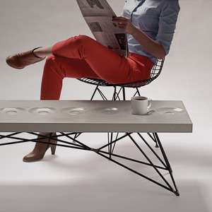 تصویر - میز قهوه بتنی - معماری