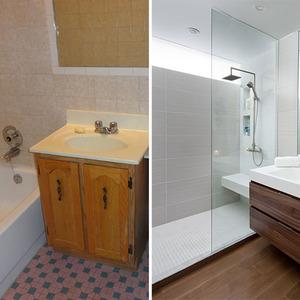 عکس - قبل و بعد:بازسازی هوشمندانه یک حمام