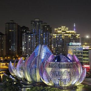 تصویر - ساختمان نیلوفرهای آبی چین (The Lotus Building) - معماری