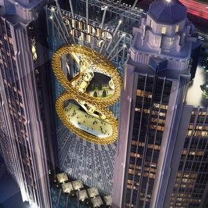 عکس - چرخ و فلکی عجیب درون ساختمان Studio City Macau در شهر ماکائو