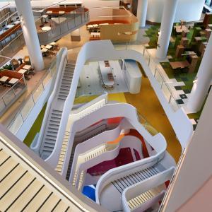 عکس - طراحی مجموعه پلکان ساختمان medibank در ملبورن