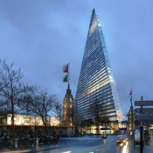 عکس - برج مثلثی پاریس اثر herzog & de meuron