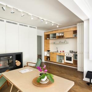 عکس - آشپزخانه مخفی یک آپارتمان