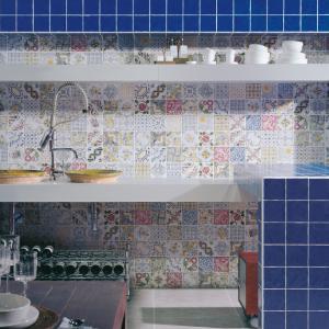عکس - ایده های عالی جهت استفاده از کاشیهای ترکیبی چهل تکه در آشپزخانه