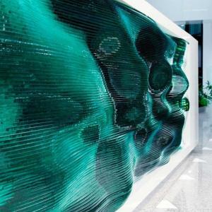 تصویر - میز پذیرش موجدار ،کاری از Tamás Ábel - معماری
