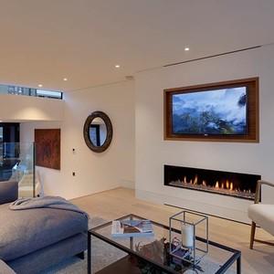 تصویر - جانمایی زیبای تلویزیون در طراحی داخلی - معماری