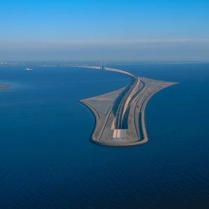 عکس - پل شگفت انگیز متصل کننده دانمارک به سوئد