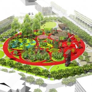تصویر - طراحی پارک نمادین مدور در محوطه نیروی دریایی فیلادلفیا ،توسط James Corner Field Operations - معماری