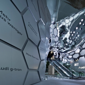 تصویر - غرفه نمایشگاهی Audi در نمایشگاه خودرو فرانکفورت ، اثر SCHMIDHUBER ، آلمان - معماری