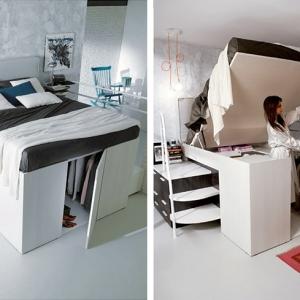عکس - رختکن لباس مخفی در زیر تختخواب