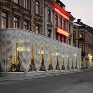 عکس - طراحی جالب پاویون هتلی در سوئد