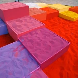 تصویر - اثری هنری با استفاده از 30 تن شن رنگی - معماری