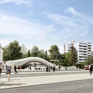 تصویر - سایبان بتنی ایستگاه مترو مرکز vitry در فرانسه - معماری