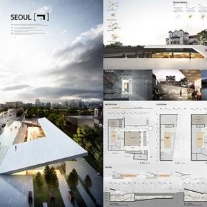 تصویر - برگزیدگان مسابقه طراحی فضای فرهنگی تاریخی سئول - معماری
