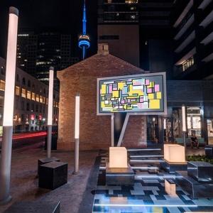 عکس - نصب مجسمه Speech Bubble در تورنتو کانادا