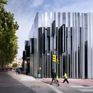 عکس - نمای زیبای مرکز فرهنگی مادرید ،اثر تیم معماری A-cero ، اسپانیا