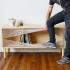 عکس - میزی که با الهام از رینگ بوکس ساخته شده است.