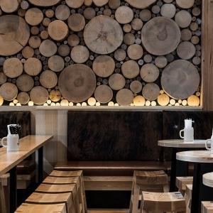 تصویر - ایده ای خاص برای طراحی دیوار،دیواری از تنه درخت - معماری