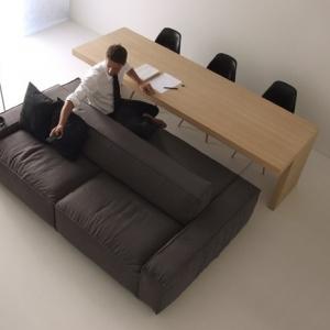 عکس - مبل دوطرفه،راهکاری برای فضاهای کوچک