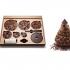 عکس - درخت کریسمس شکلاتی در یک بسته بندی مسطح