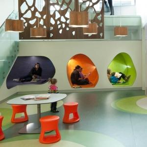 عکس - فضاهای مطالعه کتابخانه مرکزی Madison در ویسکانسین آمریکا
