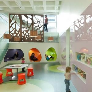تصویر - فضاهای مطالعه کتابخانه مرکزی Madison در ویسکانسین آمریکا - معماری
