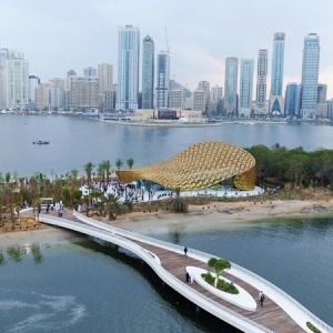 عکس - طراحی پاویون پروانه ای ،اثر استودیو 3deluxe ،امارات