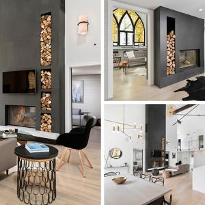 تصویر - 13 نمونه شومینه دوطرفه زیبا - معماری
