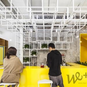 تصویر - طراحی داخلی مدرن دفترکار Yuanyang Express We ، اثر تیم طراحی MAT Office ، چین - معماری