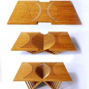 تصویر - طراحی جالب توجه میزی از جنس بامبو - معماری